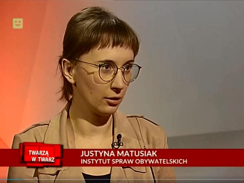 Justyna Matusiak Twarzą w Twarz
