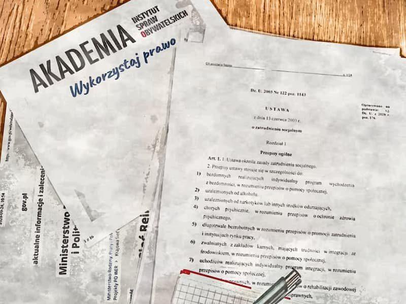 Szkolenie: Rekomendacje do Ustawy o zatrudnieniu socjalnym